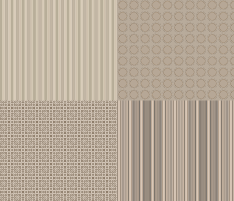 Coordinating Squares in Beige © 2012 Gingezel™ fabric by gingezel on Spoonflower - custom fabric