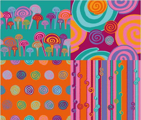 Coordin fabric by cassiopee on Spoonflower - custom fabric