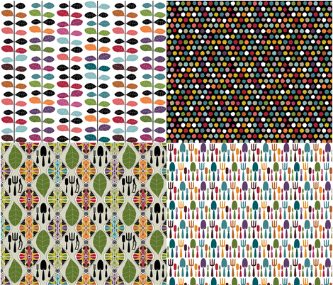 'a time to garden' collection fabric by scrummy on Spoonflower - custom fabric