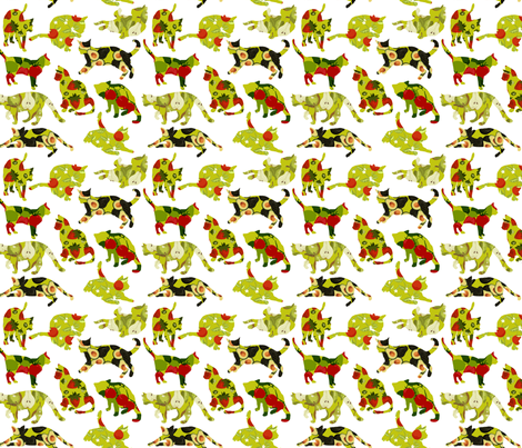Kitchen Cats fabric by marlene_pixley on Spoonflower - custom fabric