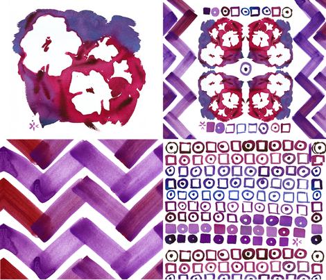 cestlaviv_redpurple fabric by cest_la_viv on Spoonflower - custom fabric