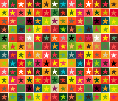 christmas box stars fabric by scrummy on Spoonflower - custom fabric