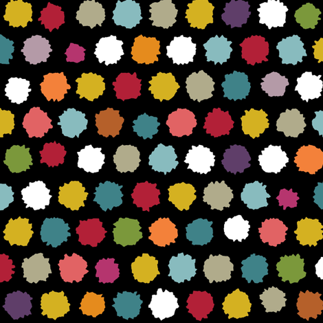 pom pom spot black fabric by scrummy on Spoonflower - custom fabric