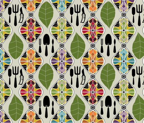 scrummy garden fabric by scrummy on Spoonflower - custom fabric