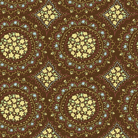 floral_circles fabric by stacyiesthsu on Spoonflower - custom fabric