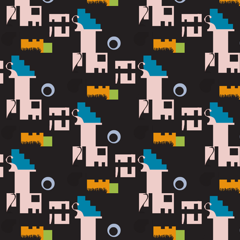 Prince Siegfried's Lake--Minimal Version fabric by boris_thumbkin on Spoonflower - custom fabric