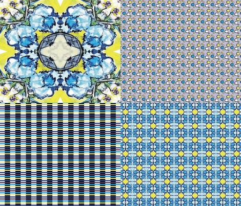 flowersinvasecoordinatesv1 fabric by thepiecedpalette on Spoonflower - custom fabric