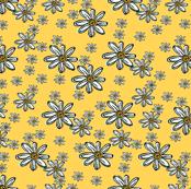 Wood Block Yellow Daisy