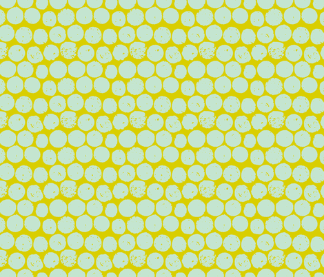 cork polka chartreuse mint fabric by scrummy on Spoonflower - custom fabric