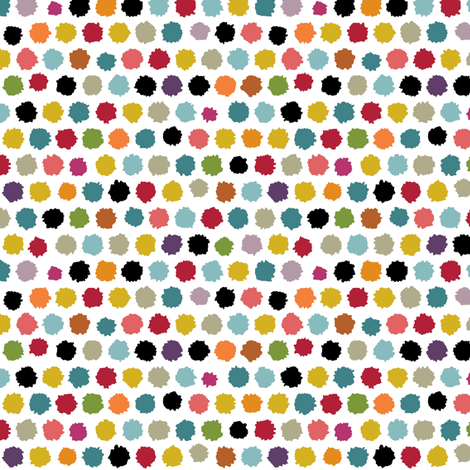 pom pom small spot white fabric by scrummy on Spoonflower - custom fabric