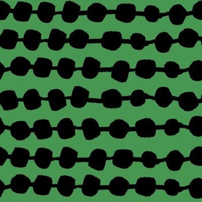 Rows of Dots - Kelly Green/Black by Andrea Lauren
