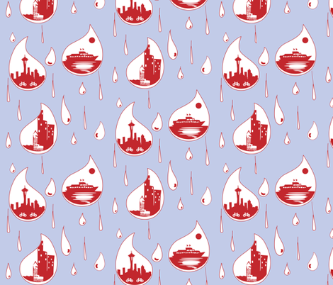 RainCitySeattle fabric by hippylongstockings on Spoonflower - custom fabric