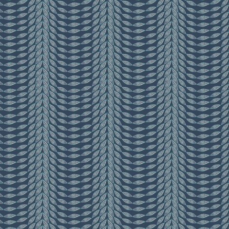 Antique Nouveau Floral - Scallop, Navy