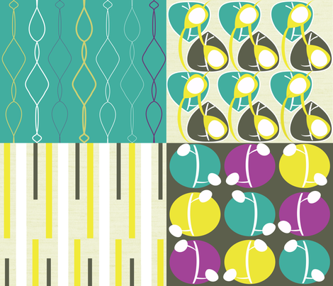 Linked Coordinates fabric by stephanie_ellis on Spoonflower - custom fabric