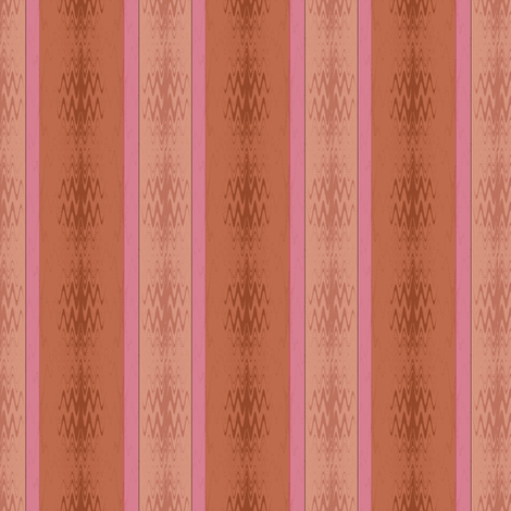 Ikat (Coral Rust) fabric by david_kent_collections on Spoonflower - custom fabric