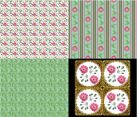 Roses from the Heart_4_in_1 E (view swatch) fabric by khowardquilts on Spoonflower - custom fabric