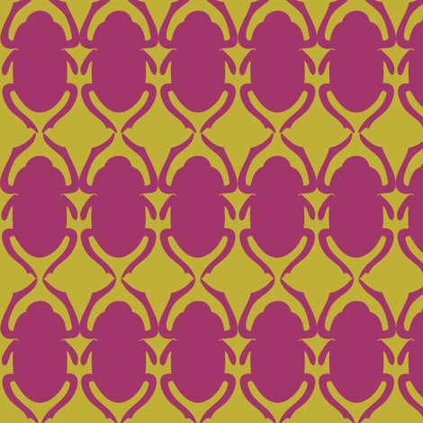 scarabRasberry fabric by hippylongstockings on Spoonflower - custom fabric