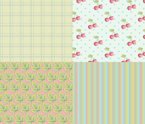 Cherries And Stuff fabric by mbsterling on Spoonflower - custom fabric