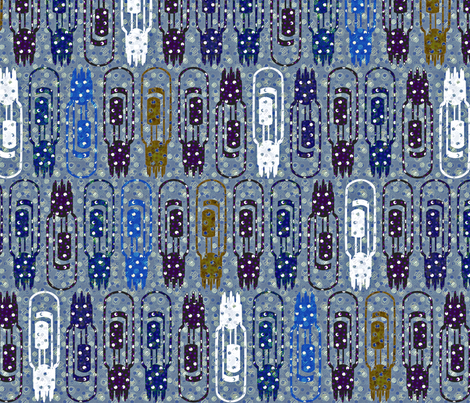 Vacuum Tube Snowstorm fabric by glimmericks on Spoonflower - custom fabric