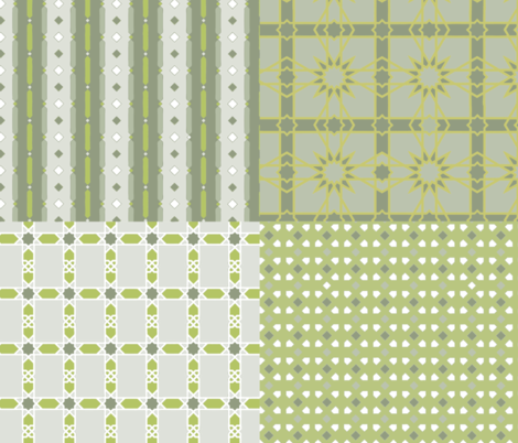 New_York_MMoA_IA_green fabric by colorwayart on Spoonflower - custom fabric