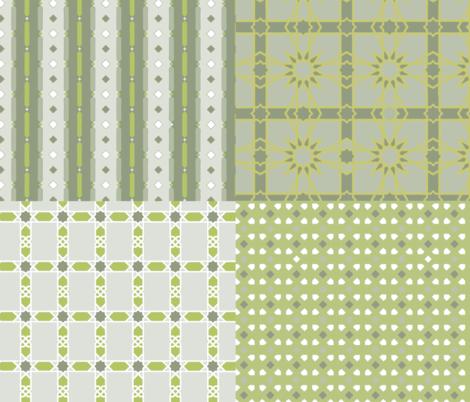New_York_MMoA_IA_green fabric by colorwayart on Spoonflower - custom fabric
