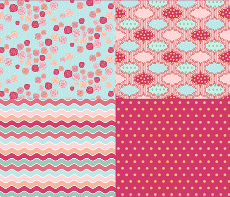 RomanticCoordinates fabric by mrshervi on Spoonflower - custom fabric
