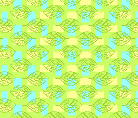 Leafbones in Green fabric by katieart on Spoonflower - custom fabric