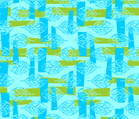 Leafbones Abstract fabric by katieart on Spoonflower - custom fabric
