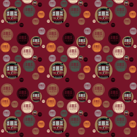 Tram Spots fabric by upcyclepatch on Spoonflower - custom fabric