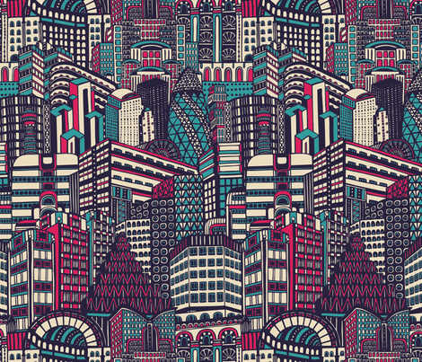 Deco City fabric by teja_jamilla on Spoonflower - custom fabric
