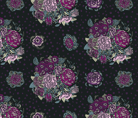 Bunches of Flowers fabric by teja_jamilla on Spoonflower - custom fabric