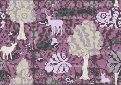 Collage Forest Damask
