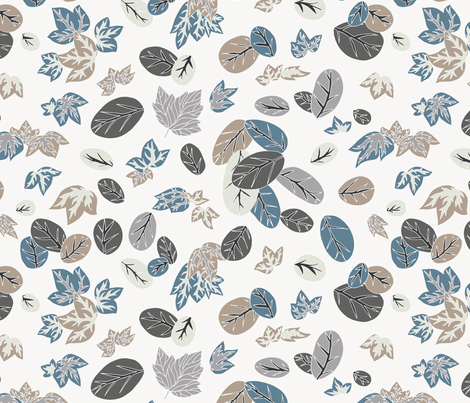 Falling Leaves fabric by teja_jamilla on Spoonflower - custom fabric