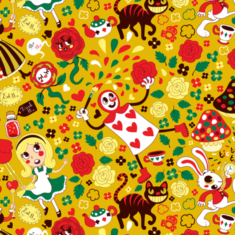 Wonderland fabric by irrimiri on Spoonflower - custom fabric