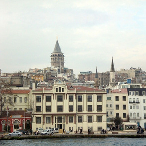 Istanbul-Pera-Galata-Bosporus Cityscape