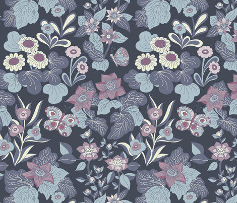 Night Garden  fabric by teja_jamilla on Spoonflower - custom fabric