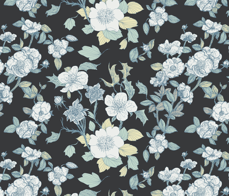 Luminous Blooms  fabric by teja_jamilla on Spoonflower - custom fabric