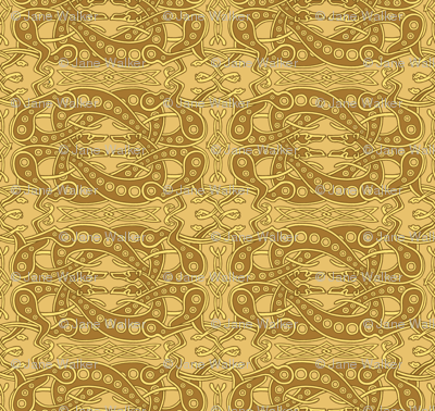 Gold Celtic Knot Greyhounds ©2011 by Jane Walker
