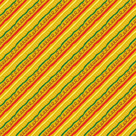 Wonderland stripes fabric by irrimiri on Spoonflower - custom fabric