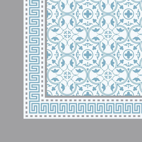 Napkin Amara Fret Cornflower Blue