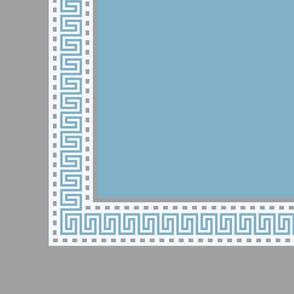 Napkin Fret Cornflower Blue-Plain
