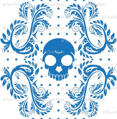 Blue Skull Pattern
