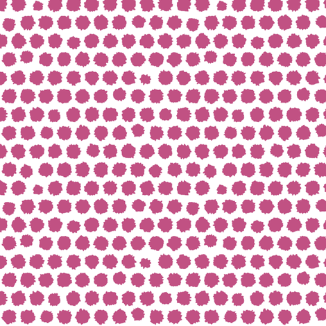 pom pom small spot pink fabric by scrummy on Spoonflower - custom fabric