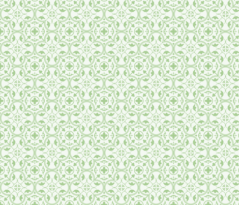 Amara Pistachio Green fabric by floating_lemons on Spoonflower - custom fabric