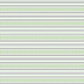 Fret Stripe Pistachio Green-Charcoal Grey
