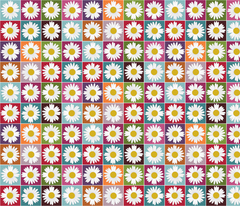 garden daisy fabric by scrummy on Spoonflower - custom fabric