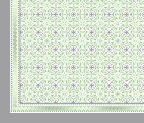Napkin Amara Fret Pistachio Green-Charcoal Grey