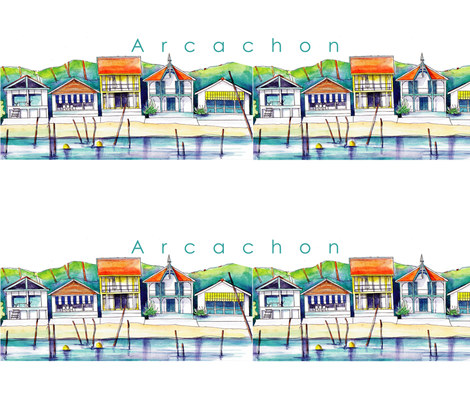 Arcachon_final fabric by monique_caffet on Spoonflower - custom fabric