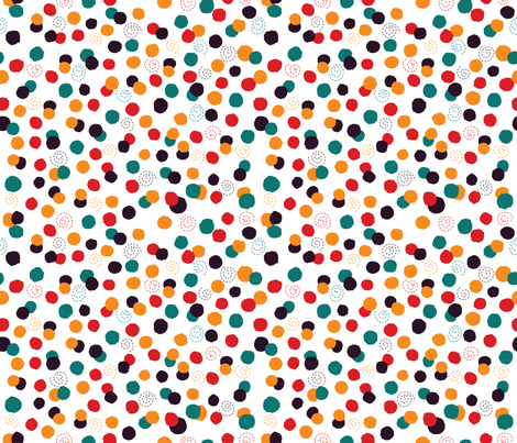 crazy_circus_dots fabric by made_in_shina on Spoonflower - custom fabric