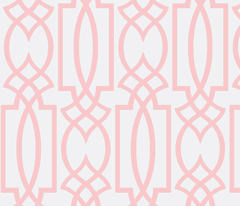 Ruby's Pink Trellis fabric by theperfectnursery on Spoonflower - custom fabric